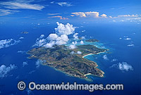 Aerial Lizard Island reef photo