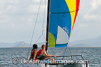 Hobi-cat sailing Hayman Island Whitsunday Islands Photo - Gary Bell