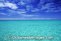 Ocean seascape island lagoon sky photo