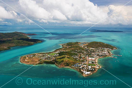 Aerial view of populated Thursday Island. Torres Strait, Queensland, Australia Photo - Gary Bell