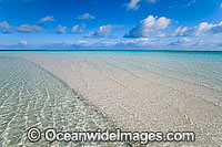 Tidal ripples tropical beach Cocos Islands Photo - Gary Bell