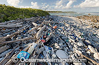 Plastic bottles pollution photo