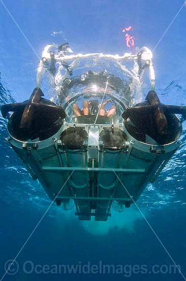Ocean Pearl personal submarine, aka Seamobile. Rottnest Island, Perth, Western Australia. Manufactured by SEAmagine Hydrospace Ltd. Photo - Andy Murch