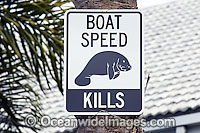 Florida Manatee Sign Photo - Michael Patrick O'Neill