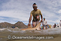 Fisherman with Shark Photo - Chris and Monique Fallows
