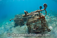 Littered shopping carts in ocean Photo - Michael Patrick O'Neill