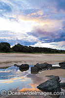 Sawtell Beach at sunset