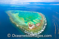 Aerial of Heron Reef and Wistari Photo - Gary Bell