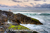 Surfer at Sawtell Headland photo