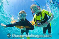 Children Snorkeling in Ocean Photo - Gary Bell