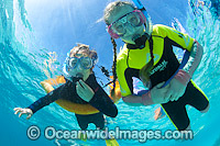 Children Snorkeling Great Barrier Reef Photo - Gary Bell