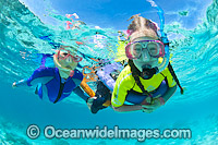 Children Snorkel Heron Island Photo - Gary Bell