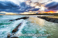Sawtell Rock Pool at sunset