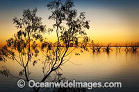 Lake Menindee at twilight