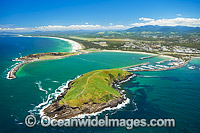 Aerial Coffs Harbour boat harbour photo