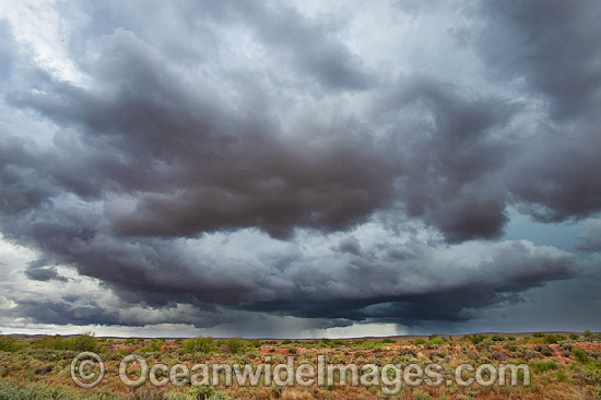 Desert Storm. Photo taken in the outback near Broken Hill, New South Wales, Australia. Photo - Gary Bell