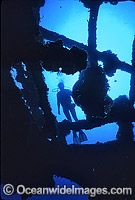 Yongala Shipwreck and Diver Photo - Gary Bell