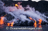 Pahoehoe lava Kilauea Volcano Photo - David Fleetham