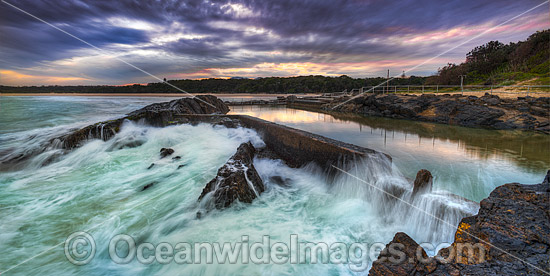 Sawtell Rock Pool during sunset. Sawtell, near Coffs Harbour, New South Wales, Australia. Photo - Gary Bell