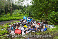 Rubbish dumped in forest Photo - Gary Bell