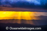 Sunrays at Point Lookout Photo - Gary Bell