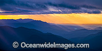 Sunrise over Mountains Photo - Gary Bell