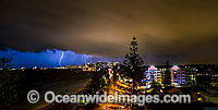 Surfers Paradise storm with lightening Photo - Gary Bell