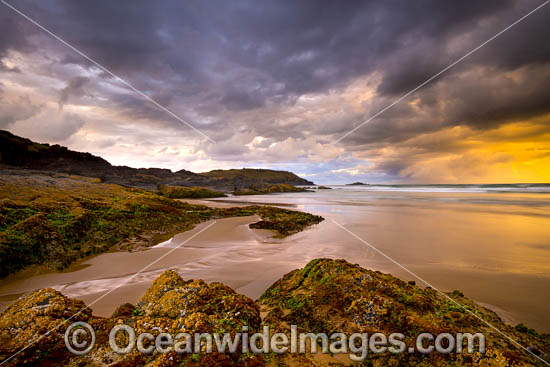 Coastal Seascape taken at the Gallows, Coffs Harbour, New South Wales, Australia. Photo - Gary Bell