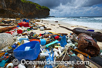 Garbage on beach photo