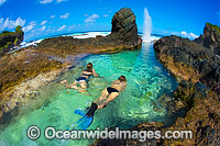 Christmas Island tidal Rock pool Photo - Gary Bell