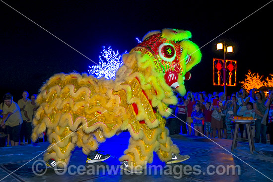 Lion Dance Moon festival on Christmas Island, Indian Ocean, Australia. Photo was taken in September, 2013. Photo - Gary Bell