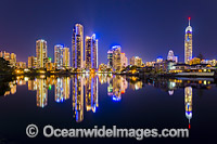 Surfers Paradise at twilight Photo - Gary Bell