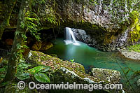 Natural Bridge Waterfall Photo - Gary Bell