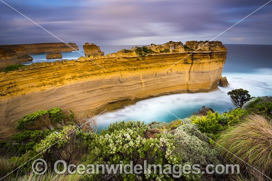The Razorback, a spectacular limestone formation standing proud at Port Campbell Coastal National Park, Victoria, Australia. Photo - Gary Bell