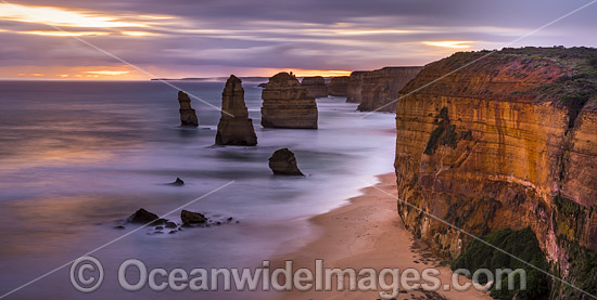 Twelve Apostles after evening sunset. Port Campbell Coastal National Park, Victoria, Australia. Photo - Gary Bell