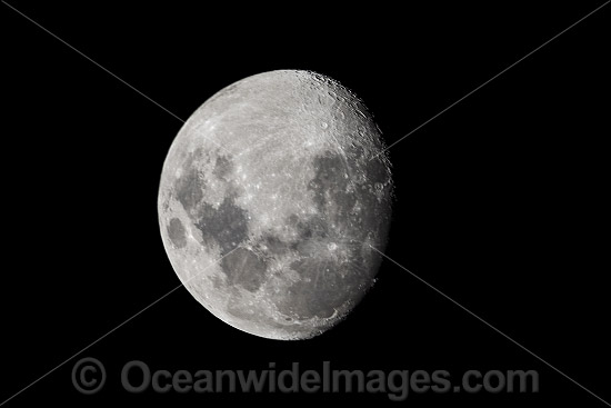Moon, at Waxing Gibbius 93% full. Photo was taken in Coffs Harbour, New South Wales, Australia. Photo - Gary Bell
