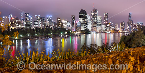 Brisbane City during evening twilight hours. Brisbane, Queensland, Australia. Photo - Gary Bell