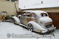 Old car in snow Guyra Photo - Gary Bell