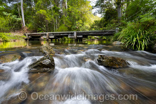 River Crossing over the Urumbilum River. Dairyville, near Coffs Harbour, New South Wales, Australia. Photo - Gary Bell