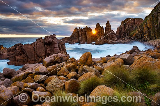The Pinnacles during sunset. Cape Woolamai Faunal Reserve, Phillip Island, Victoria, Australia. Photo - Gary Bell