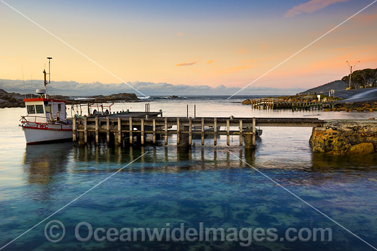 Pre-dawn at the fishing jetty situated in The Gulch, adjacent to the Governor Island Marine Sanctuary, Bicheno, Tasmania, Australia. Photo - Gary Bell