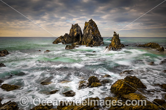 Coastal Seascape showing Camel Rocks, Bermagui, New South Wales, Australia. Photo - Gary Bell