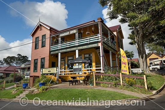Historic Dromedary Hotel, established in 1895, is situated in the historic town of Central Tilba, New South Wales, Australia. Photo - Gary Bell