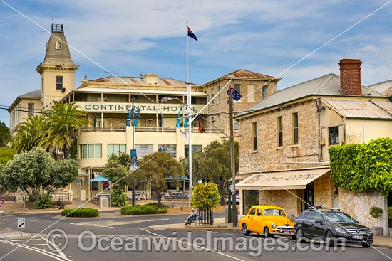 Historic Continental Hotel, established in 1875, is situated in Sorrento at the southern end of Port Phillip Bay, Mornington Peninsula, Victoria, Australia. Photo - Gary Bell