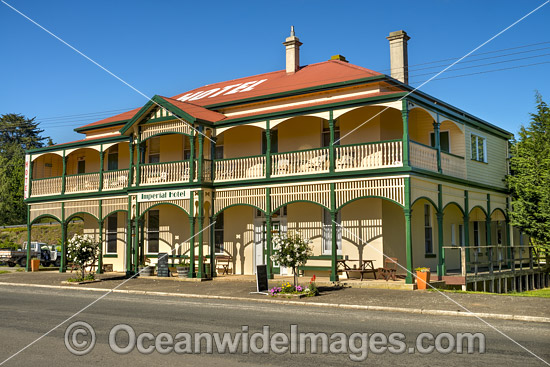 Historic Imperial Hotel, established in 1907, is situated in Branxholm, Tasmania, Australia. Photo - Gary Bell