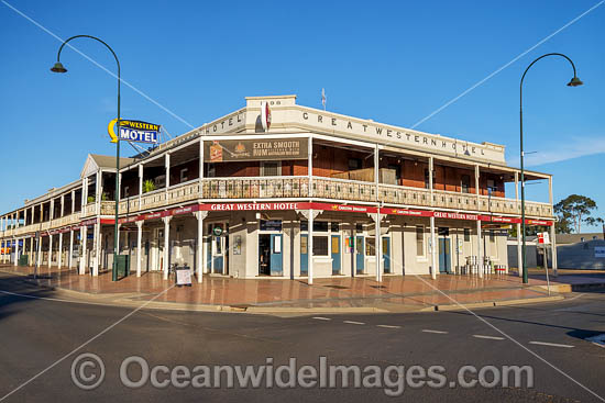 The Great Western Hotel, established in 1898, is situated in Cobar, New South Wales, Australia. This hotel is National Trust Classified. Photo - Gary Bell