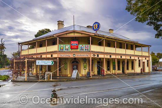 Historic Royal Exchange Hotel, established in 1850, situated in Burra, South Australia, Australia. Photo - Gary Bell
