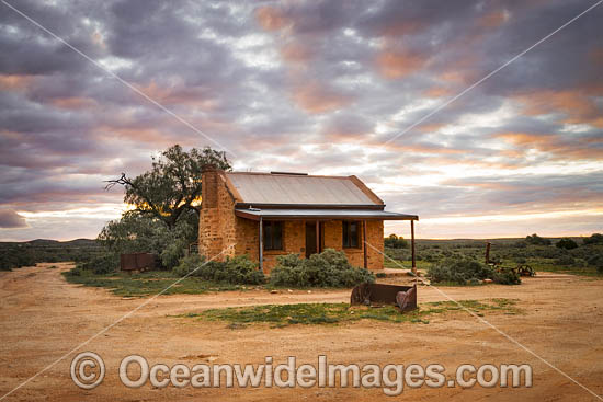 Historic old Miners Cottage in the outback town of Silverton, near Broken Hill, New South Wales, Australia. Photo - Gary Bell