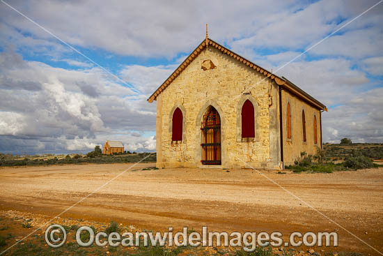 Historic Methodist Church, built in 1885, is situated in the outback town of Silverton, near Broken Hill, New South Wales, Australia. Photo - Gary Bell
