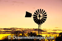 Outback Windmill at sunset Photo - Gary Bell